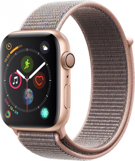 Apple Watch 4, 44mm Gold, Pink Sand Sport Loop