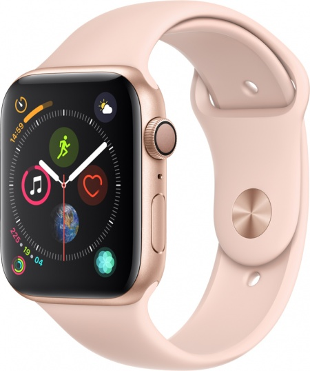 Apple Watch 4, 44mm Gold, Pink Sand Sport Band