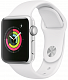 Apple Watch 3, 38mm Silver, White Sport Band